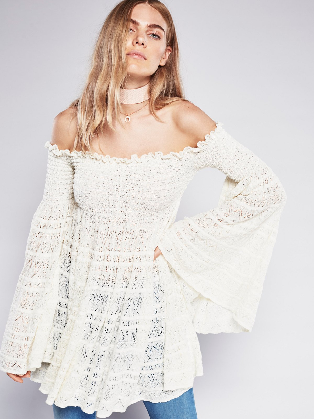 Free Flow Peasant Top