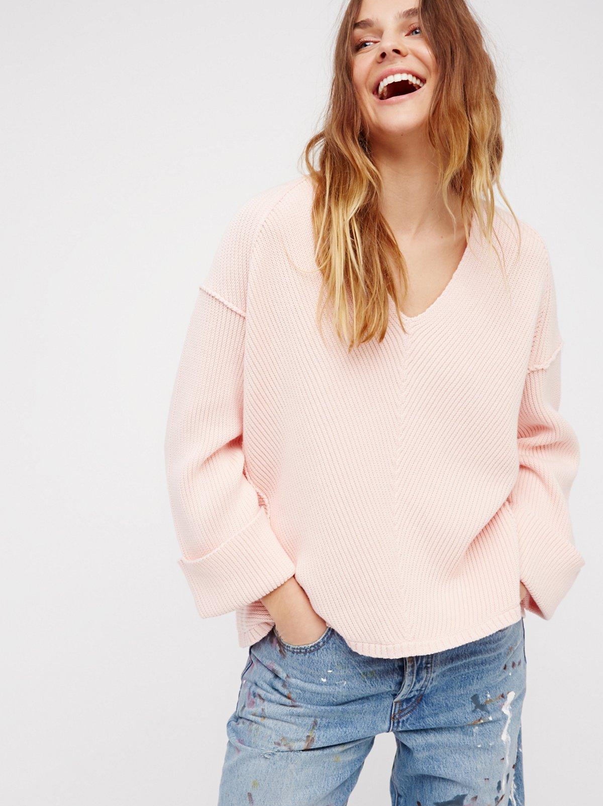 La Brea V领毛线衫