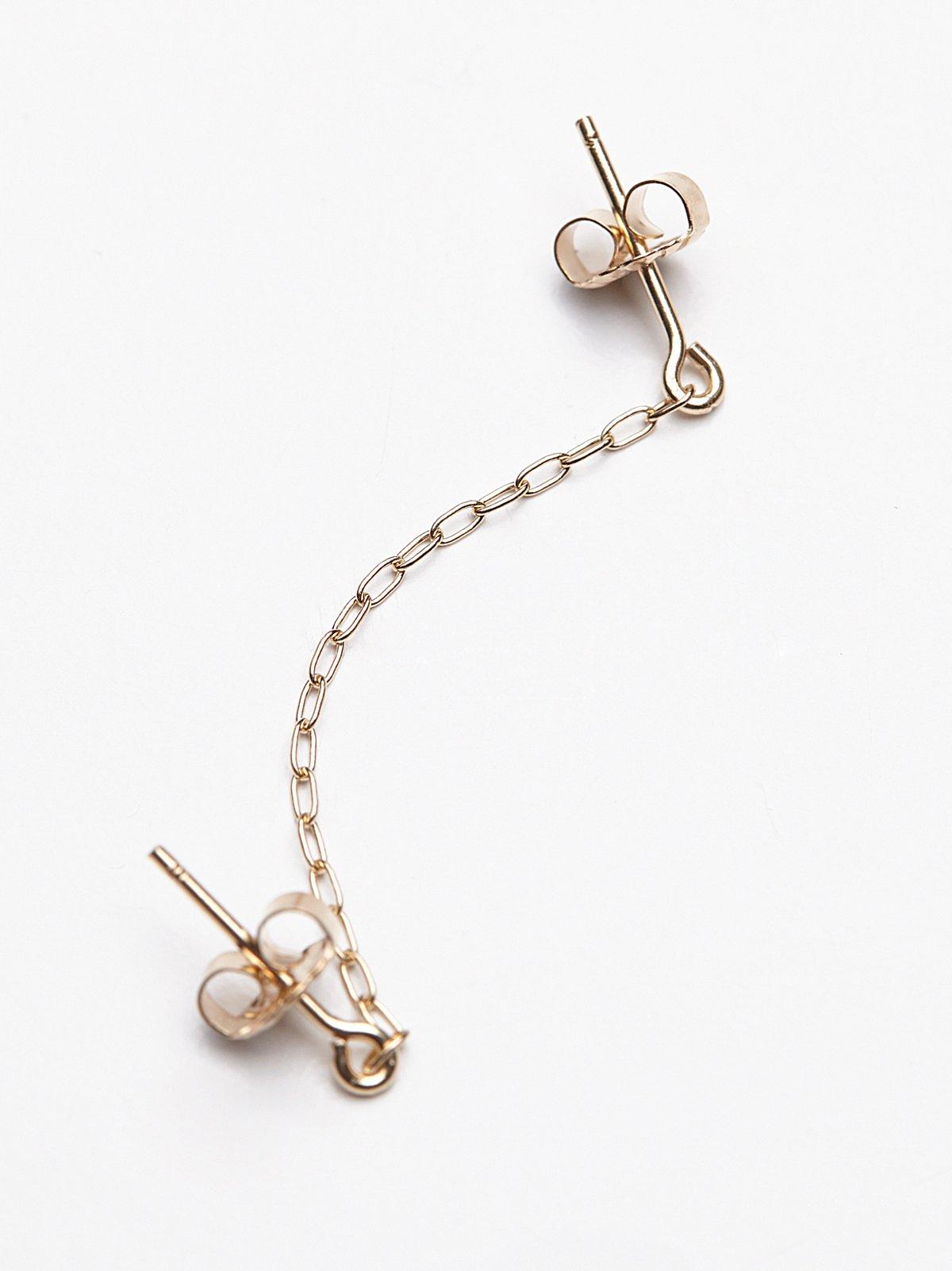 垂坠式双头链条耳环