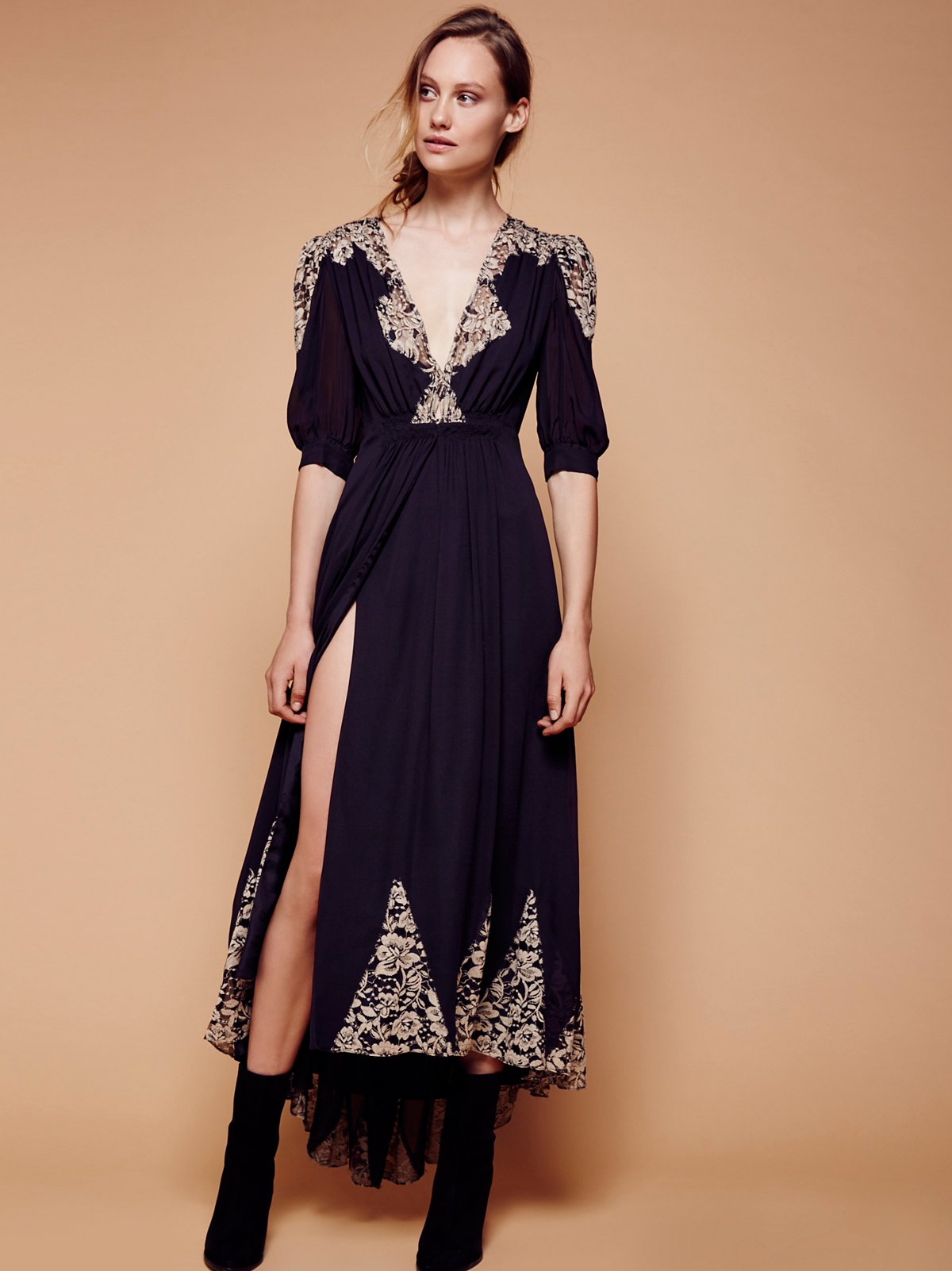 Antique Lace Wrap Gown