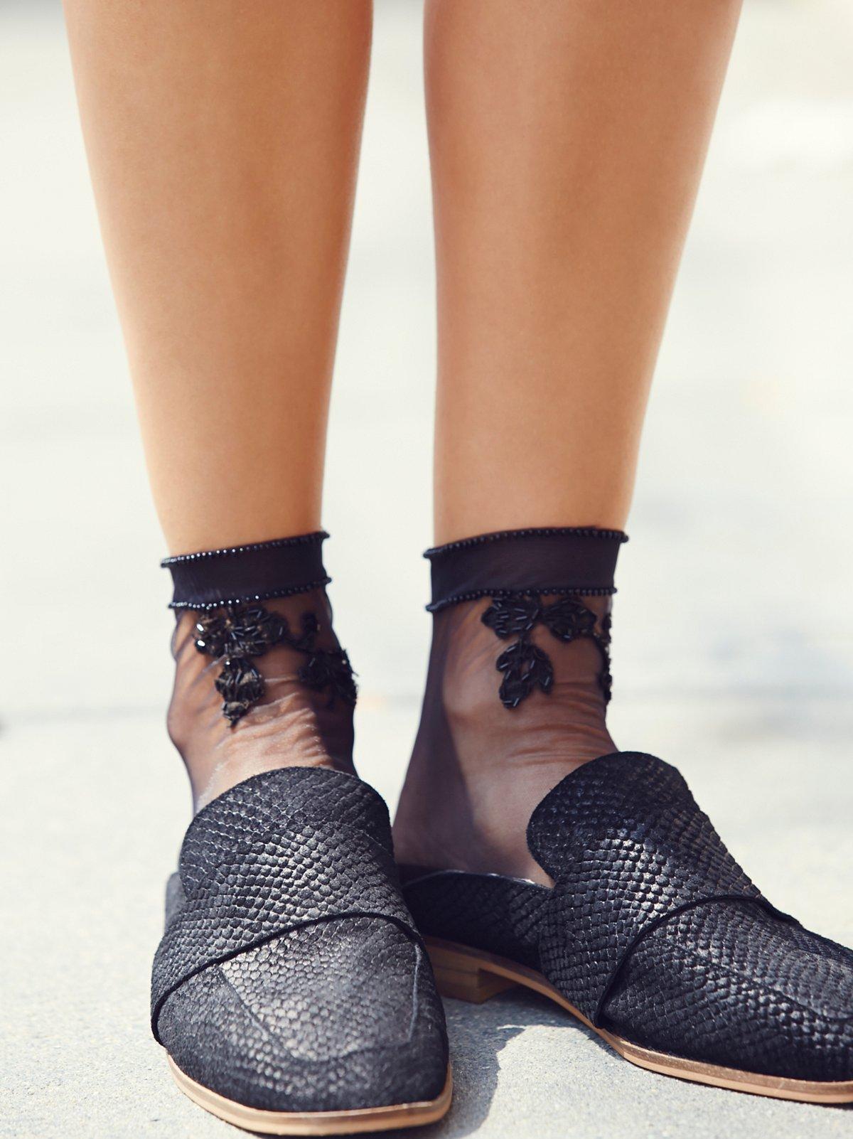Vintage Lace Embellished Sock
