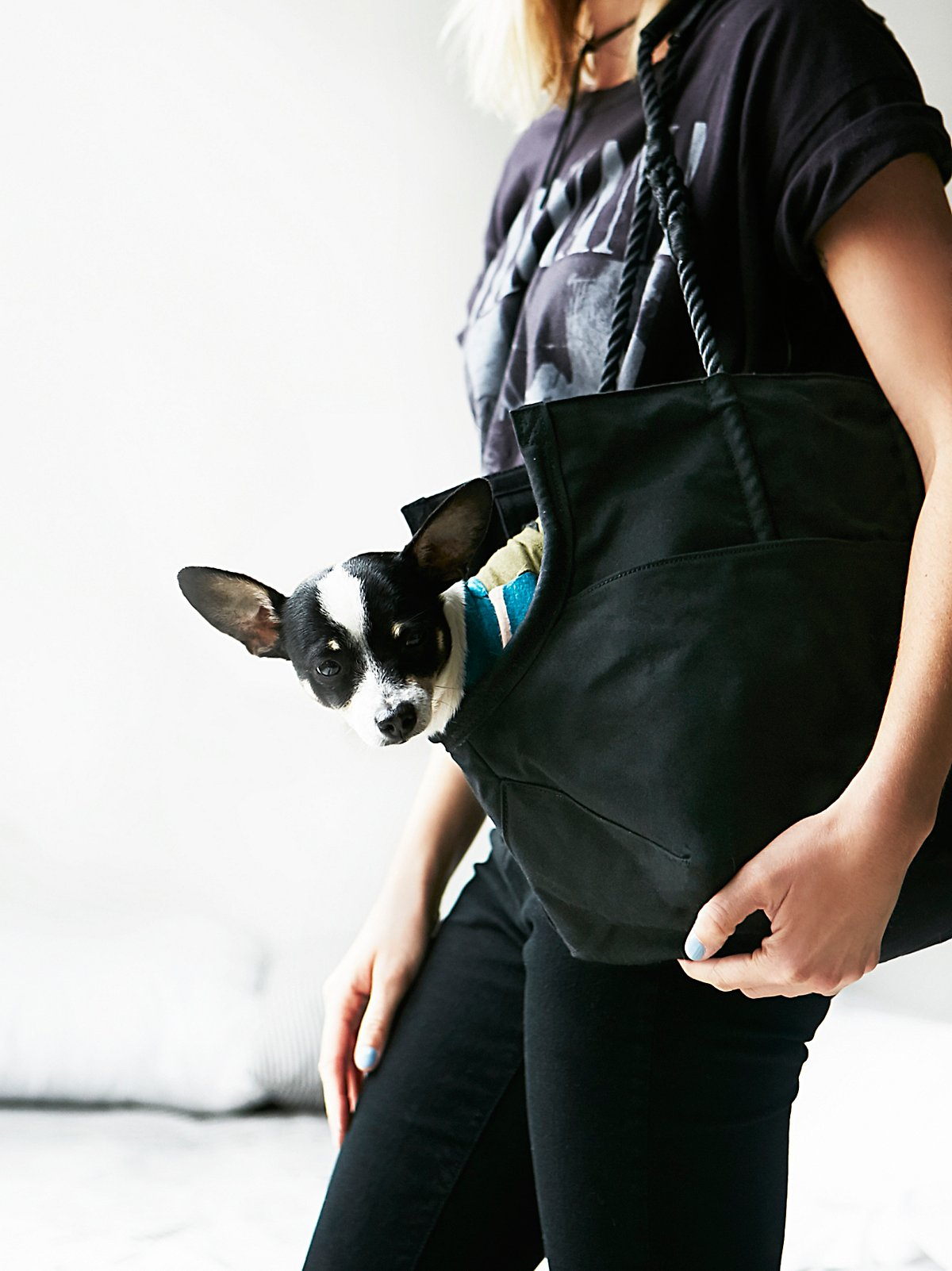 Leather Rope Dog Bag