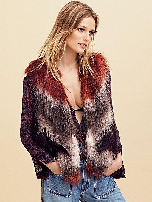 Product Image: Pattern Faux Fur Vest