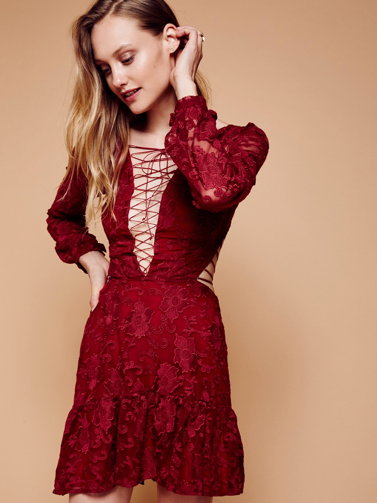 Jolene Lace Up Dress