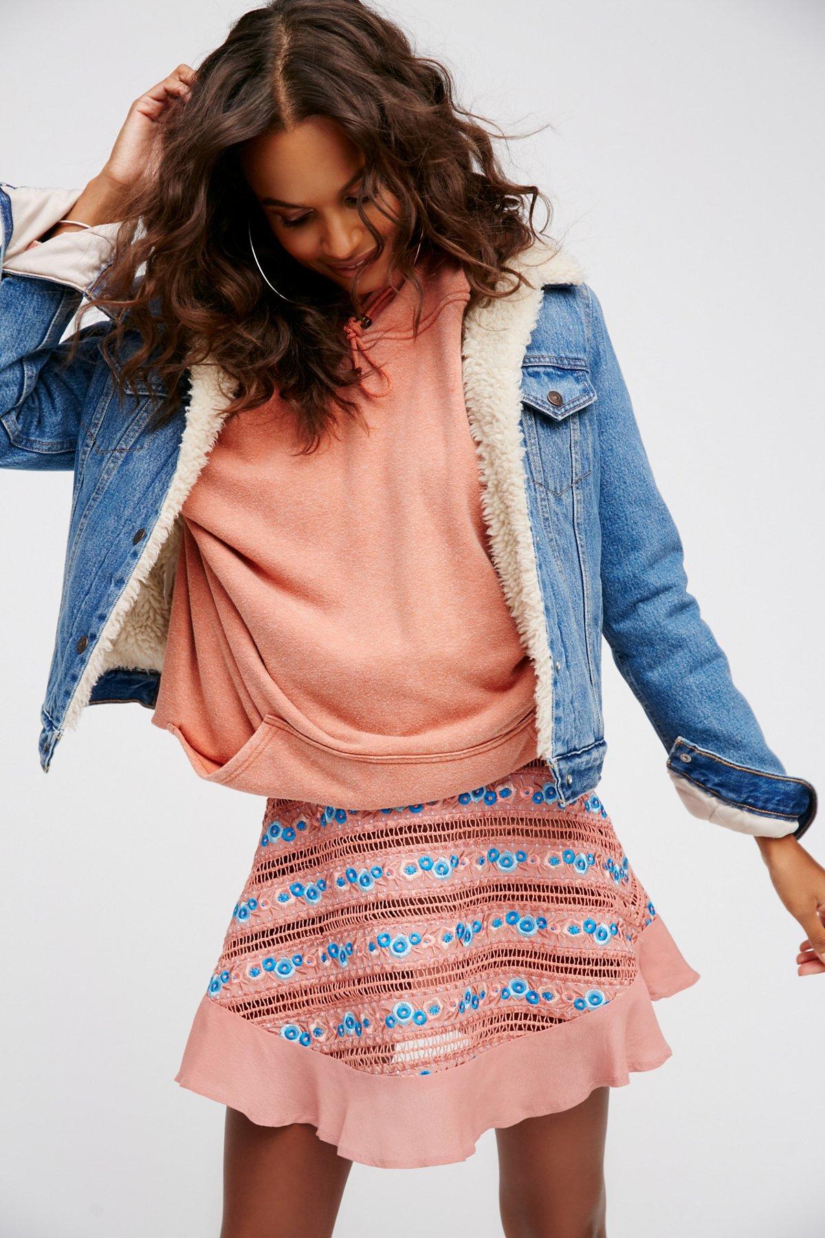 Percephone Embroidered Skirt