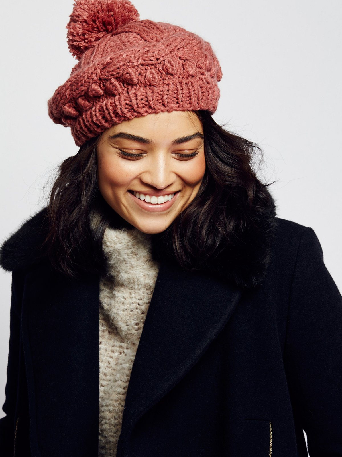 Bobble Knit Beret