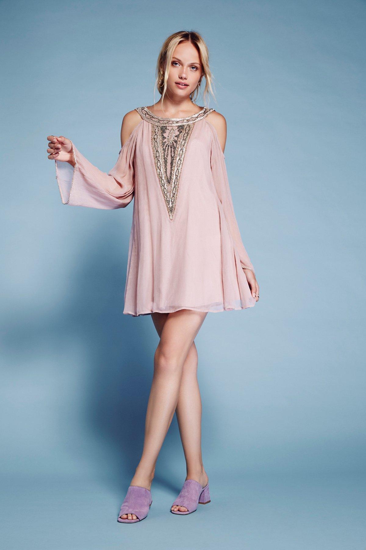 珠饰Luna迷你裙