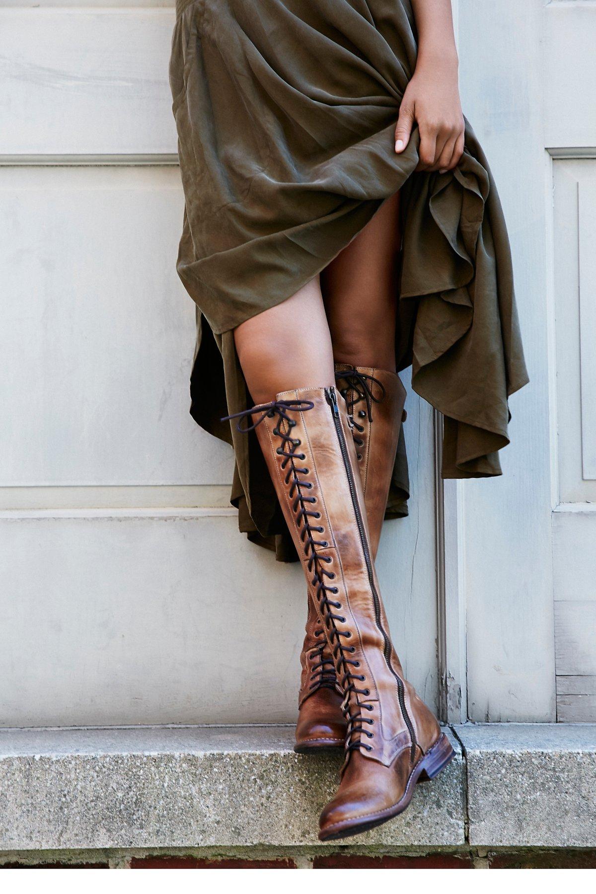 Glastonbury绑带靴子