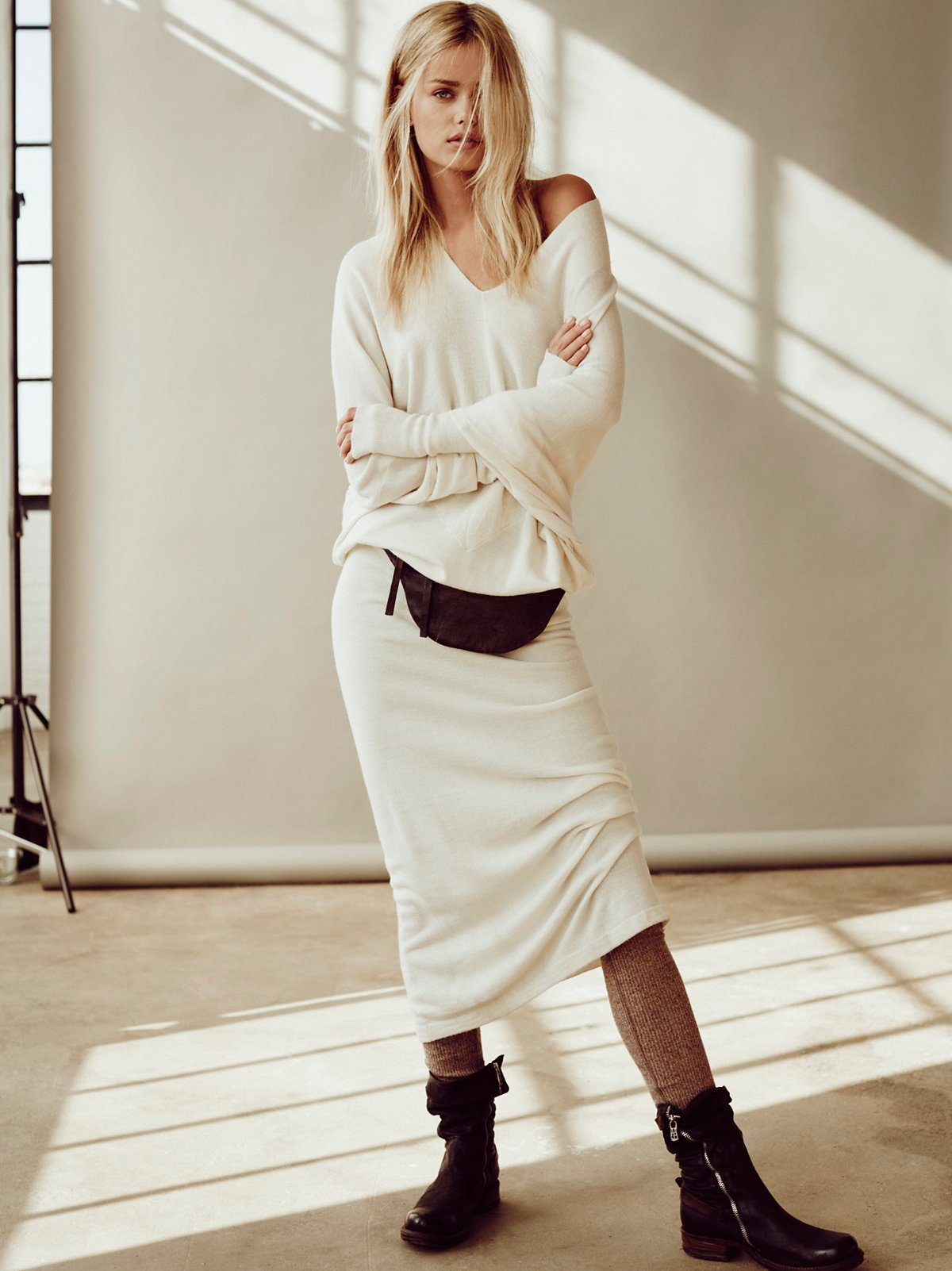 Reversible Long Sweater Dress