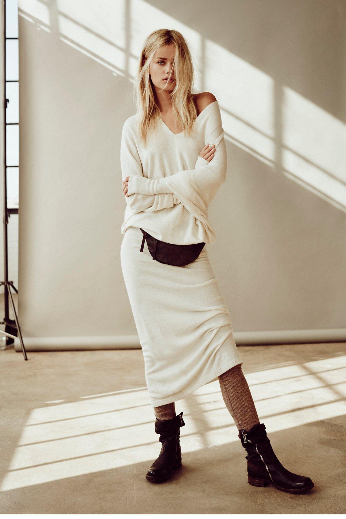 Reversible Long Sweater Dress