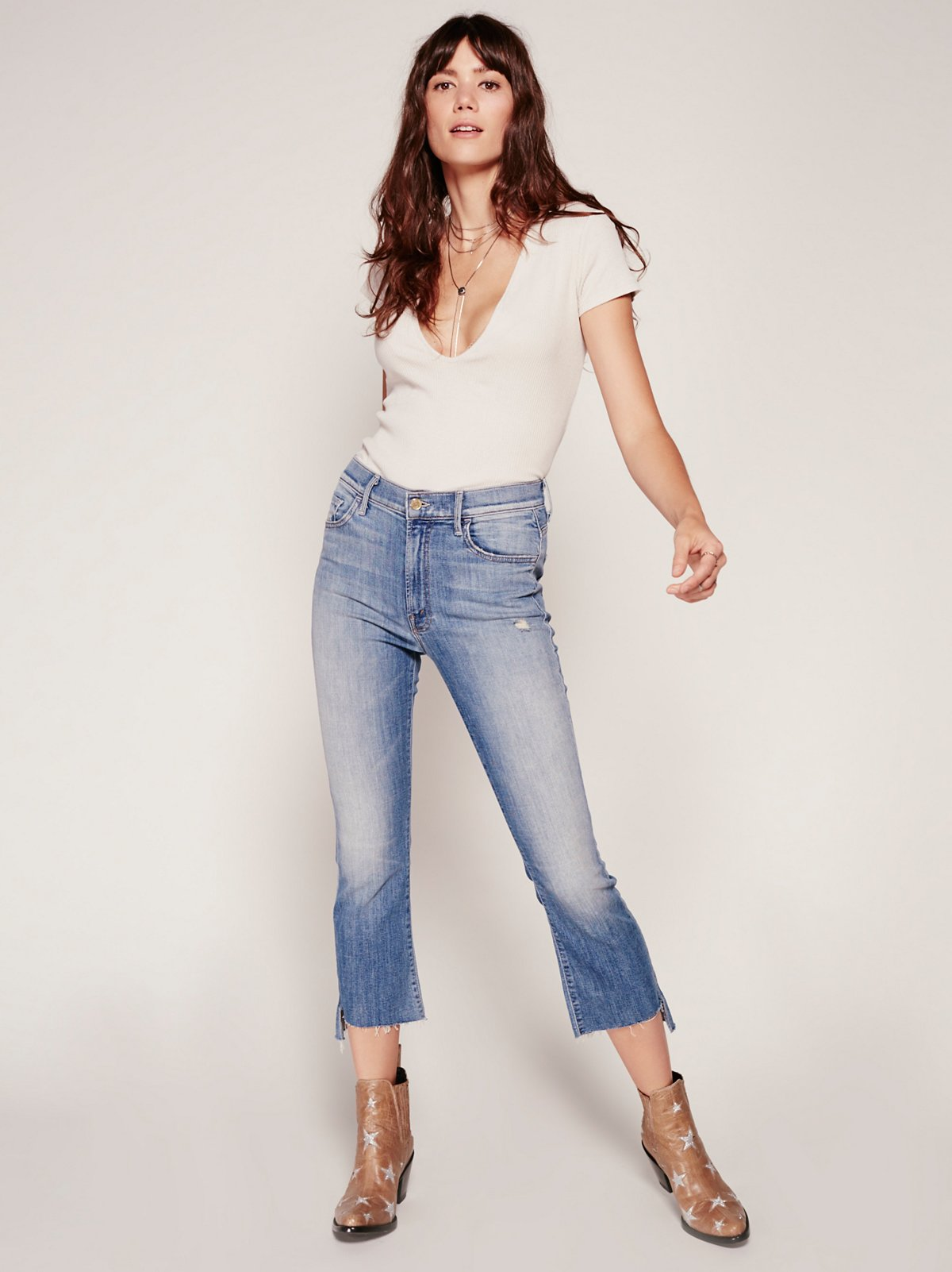 Insider Step Crop Fray Jeans