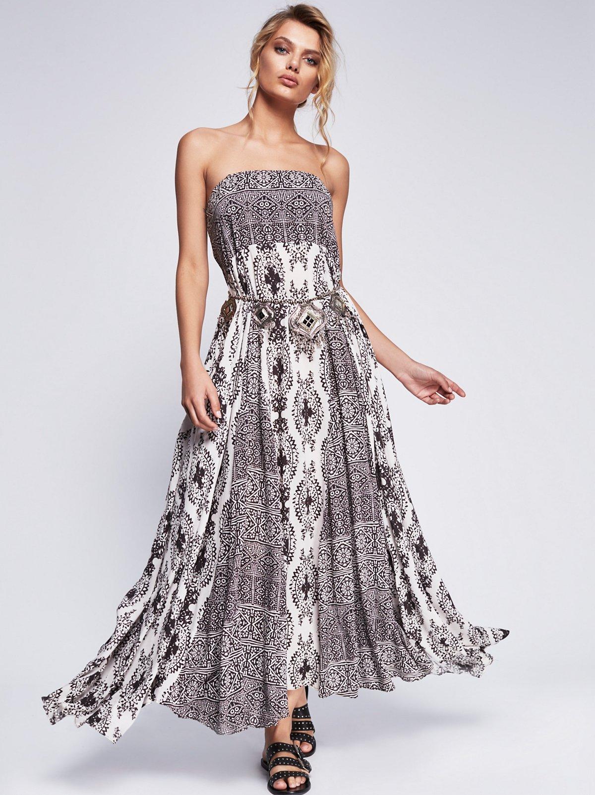 水中美人长连衣裙