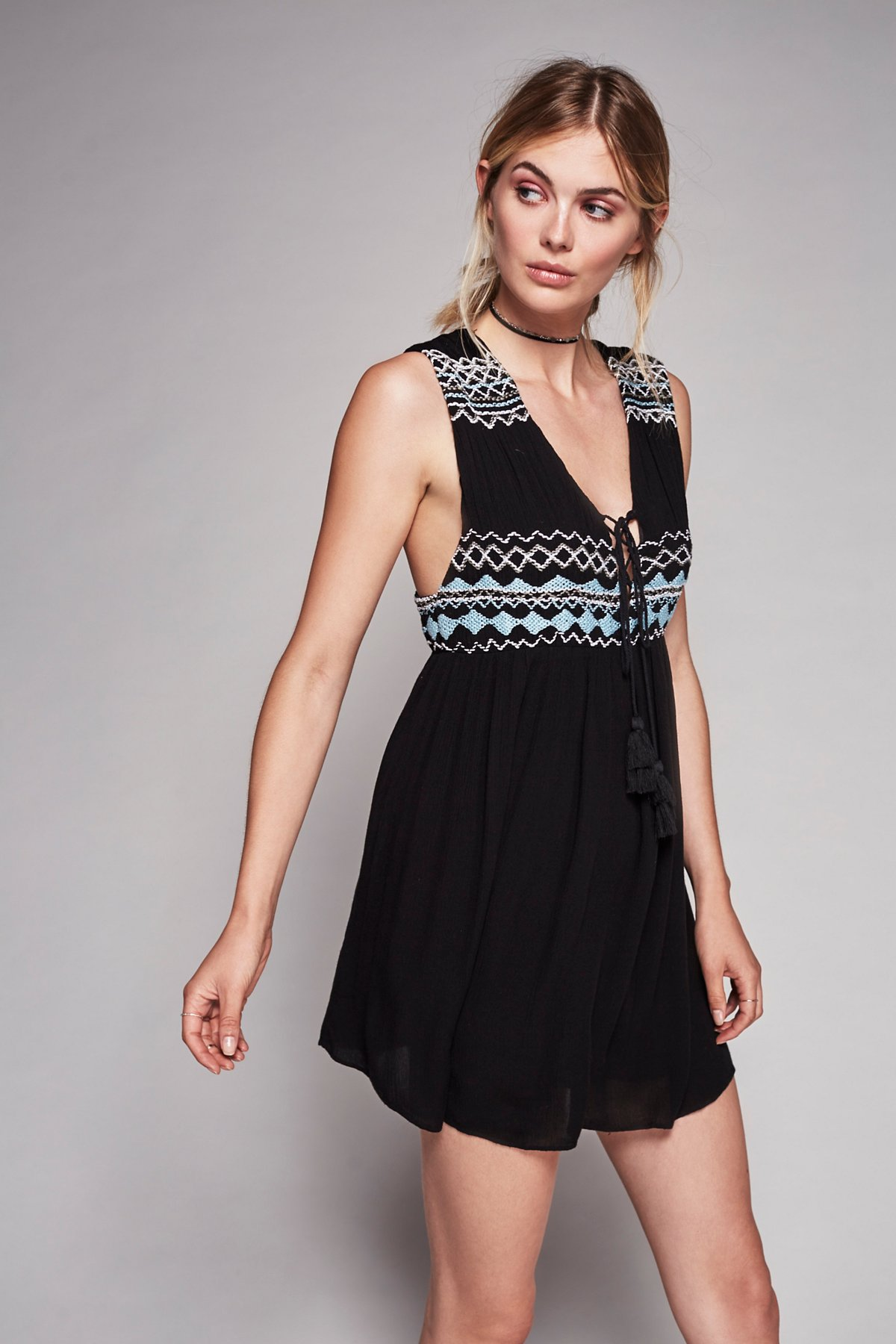 Embroidered Simply Dress
