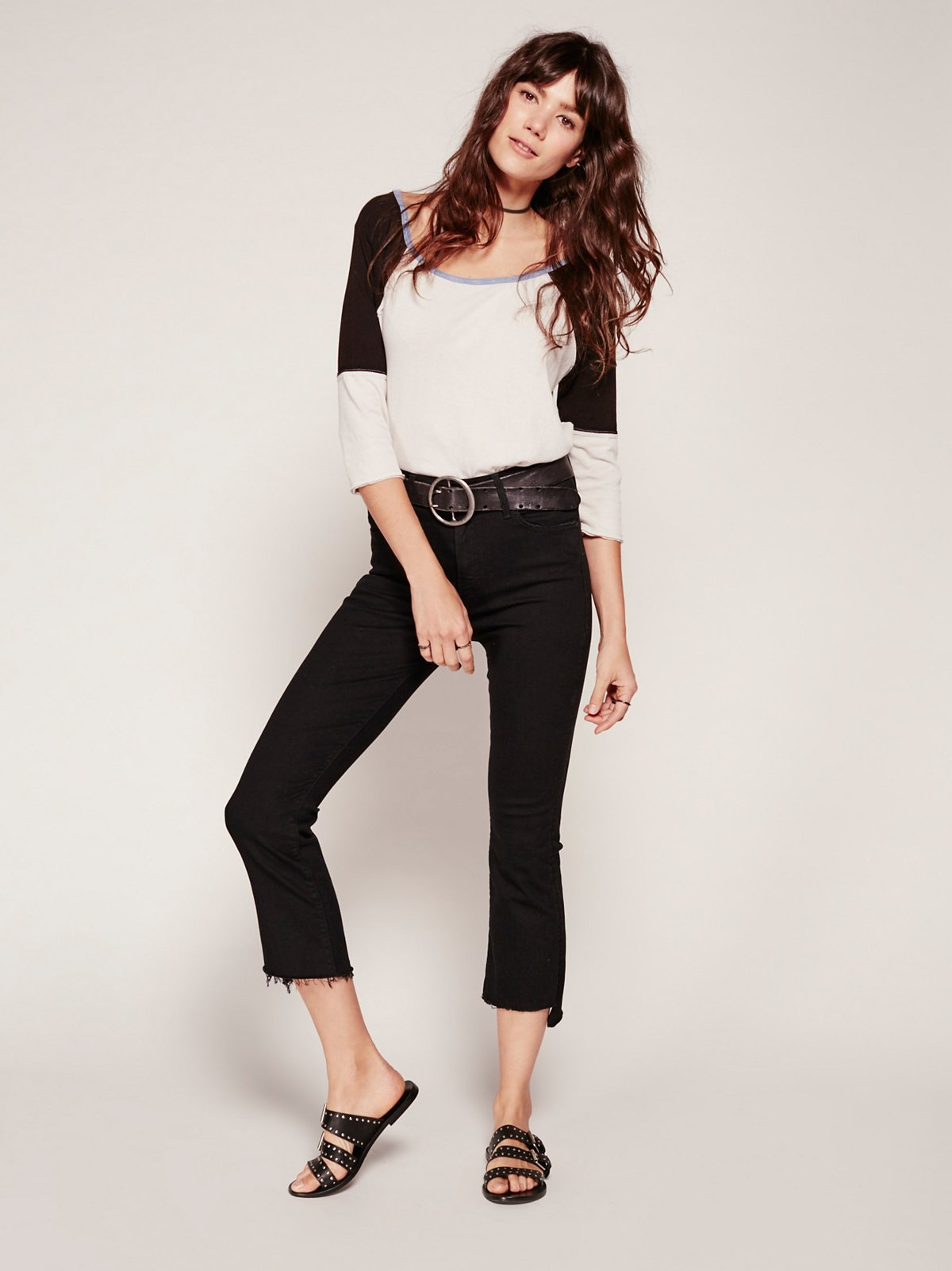 Insider Step Fray Crop Jeans