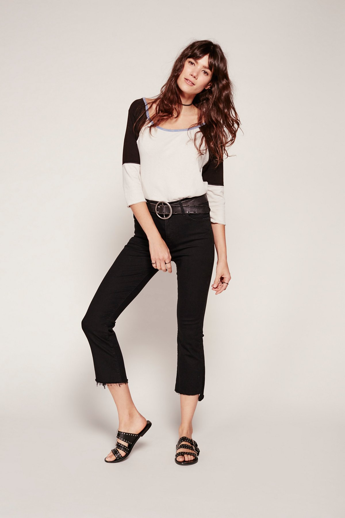 Insider Step Fray Crop Jeans