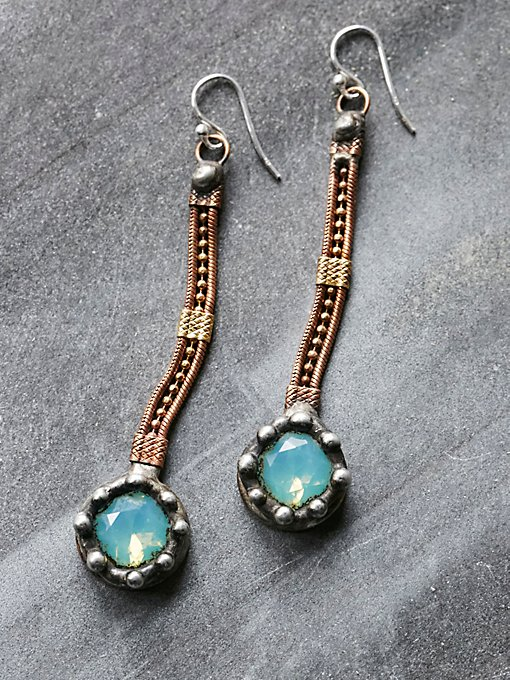 Product Image: Raw Stone Droplet Earring