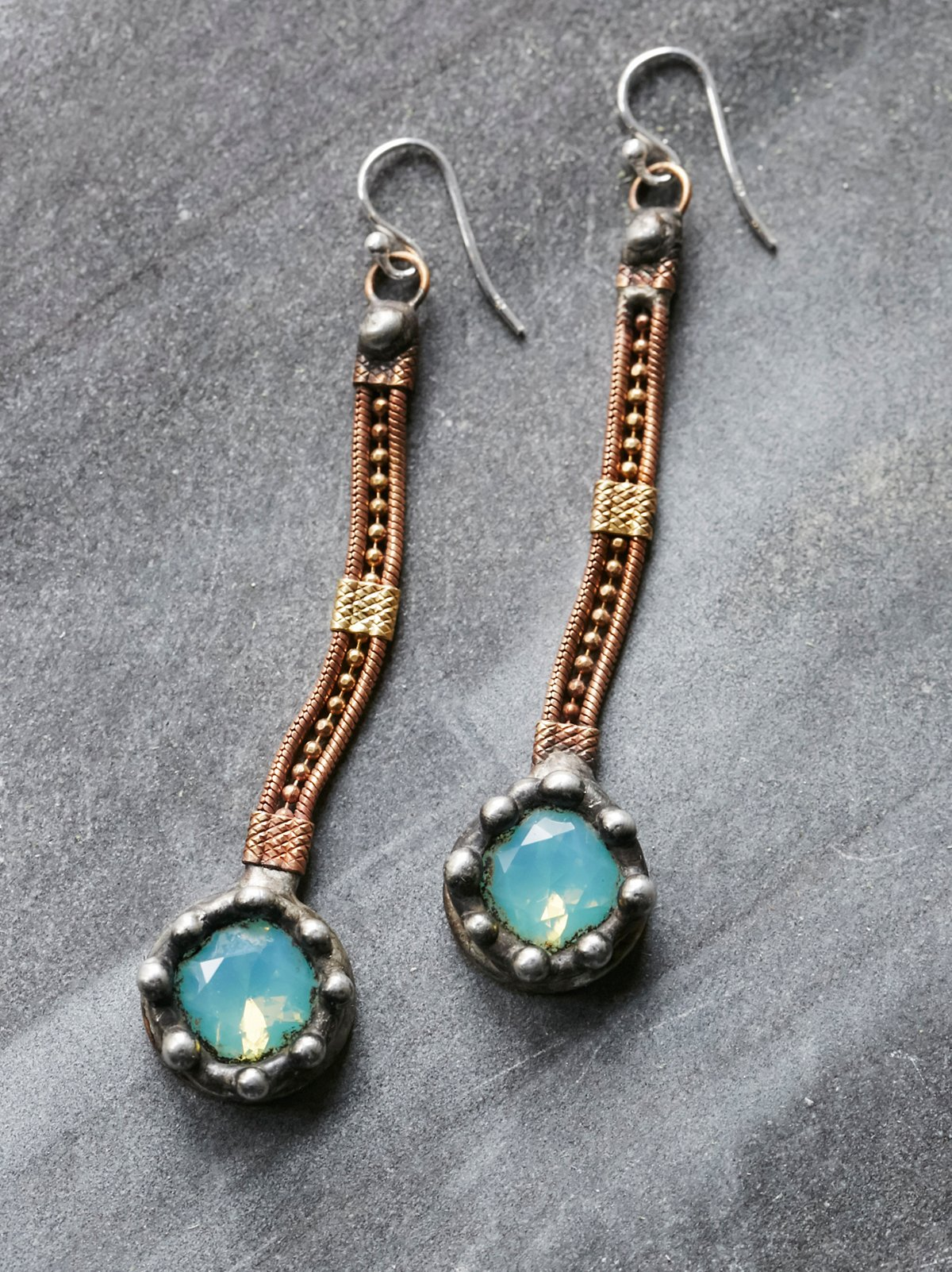 Raw Stone Droplet Earring