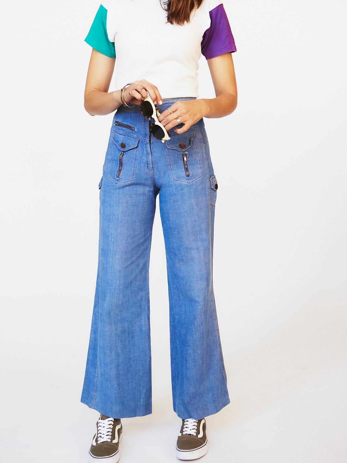 Vintage 1970s Flared Denim
