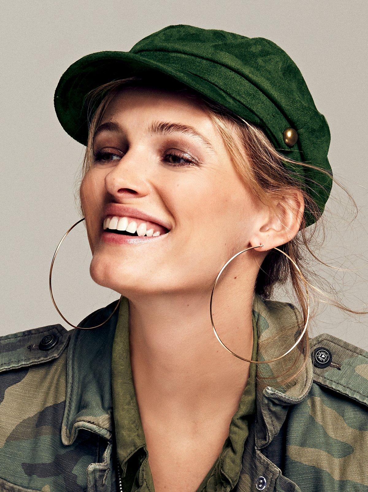Billie Jean Faux Suede Lieutenant Hat