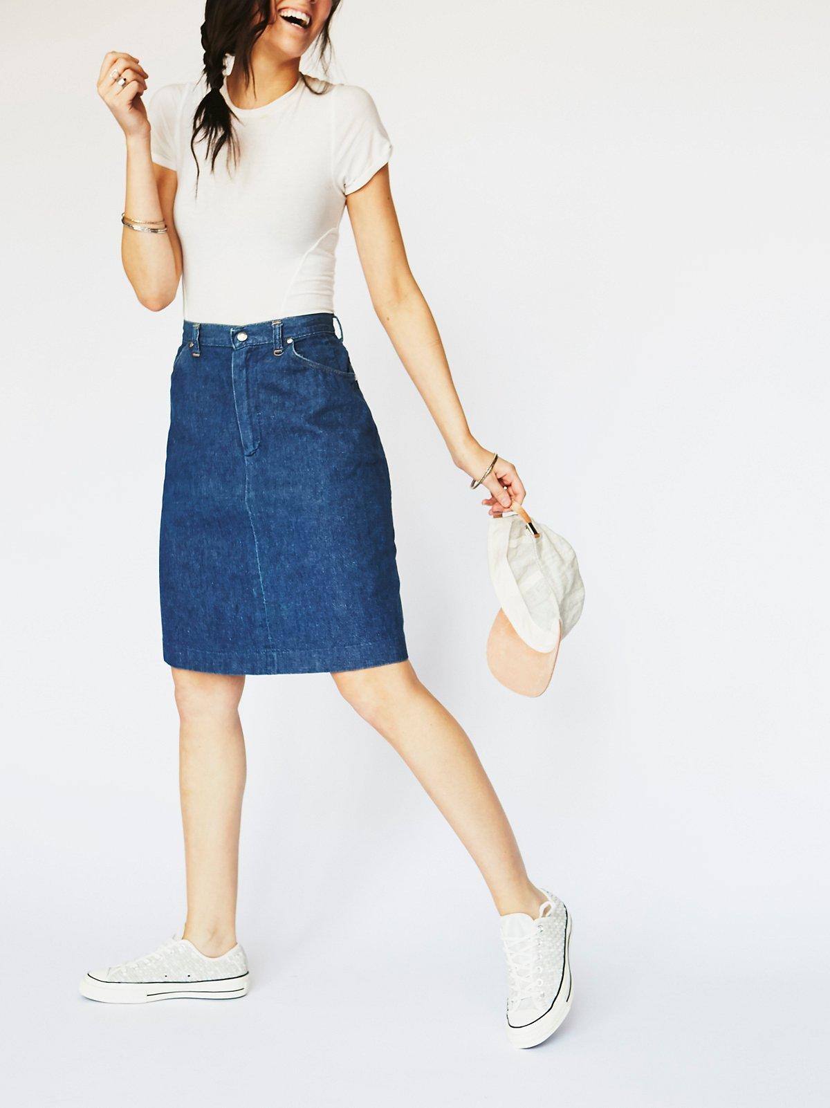 Vintage 1970s Denim Skirt