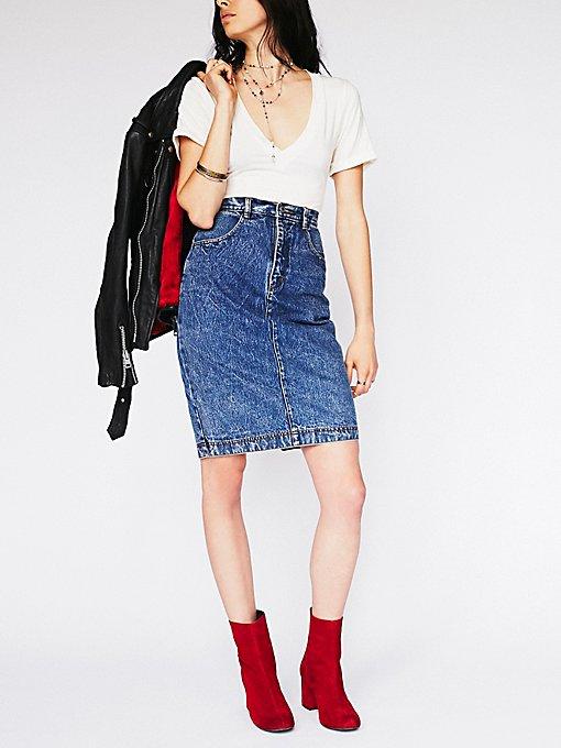 Product Image: Vintage 1980s Denim Skirt