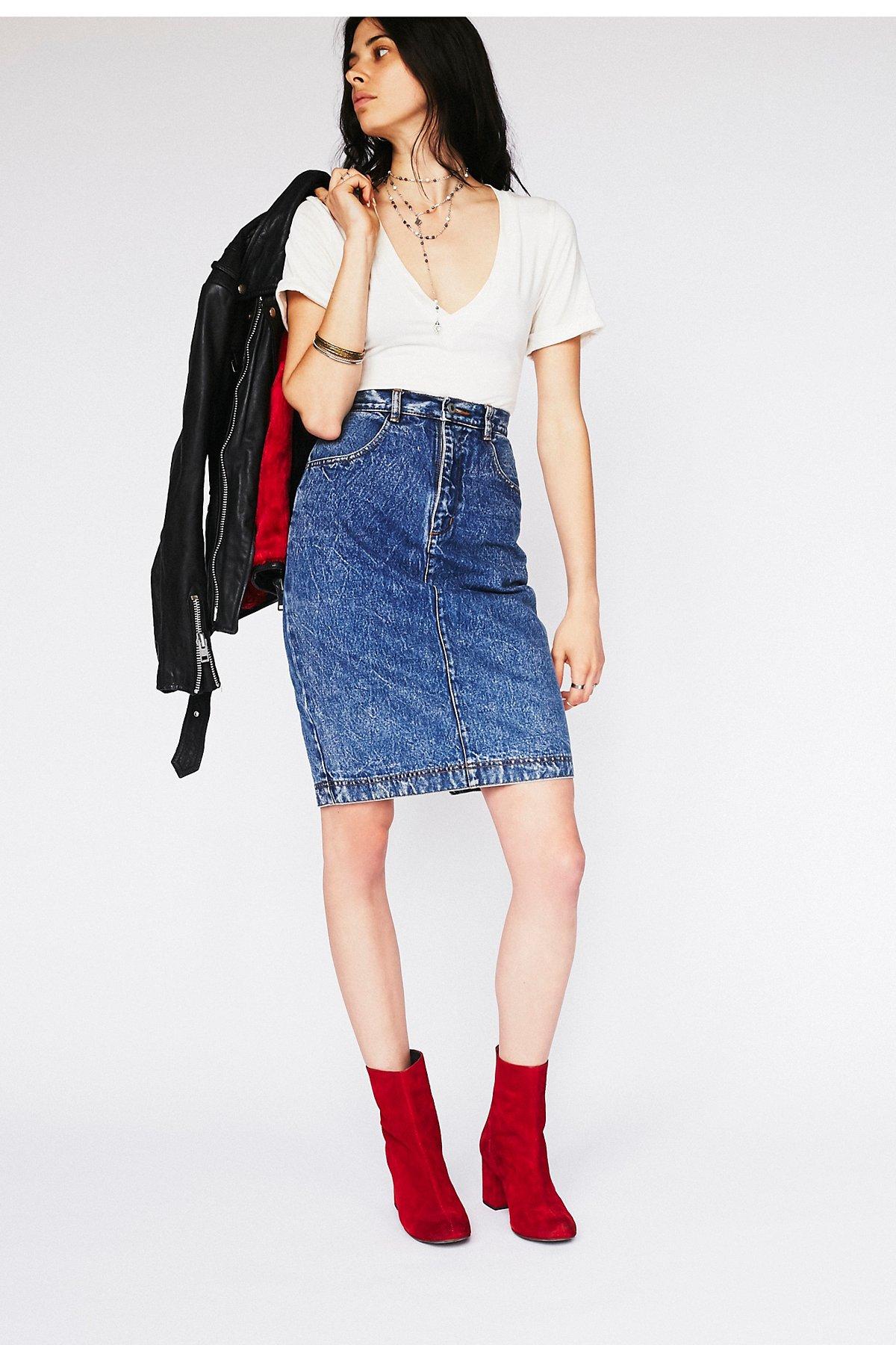 Vintage 1980s Denim Skirt