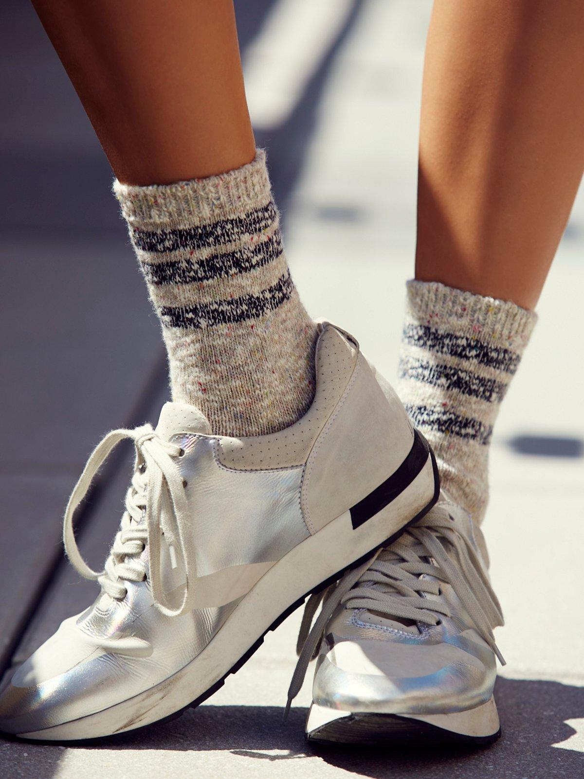 Remi Stripe Crew Sock