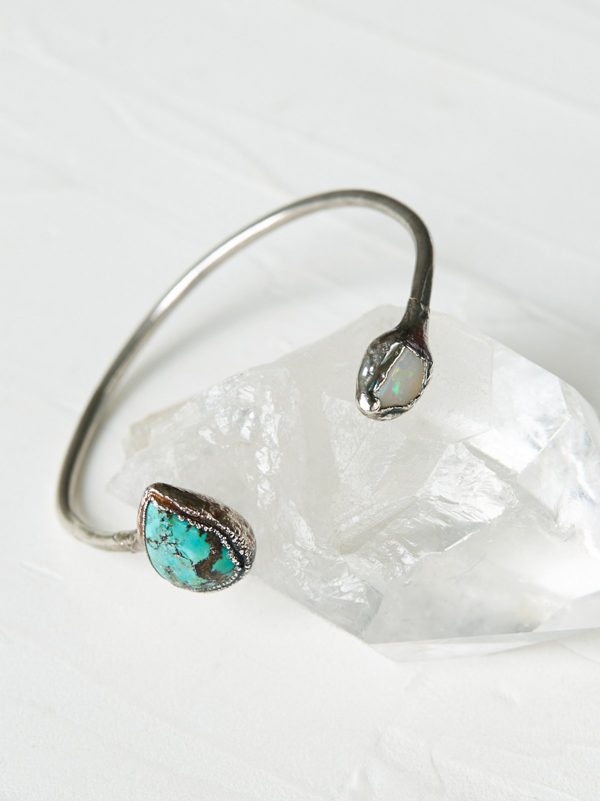 Open Road Moonstone & Opal Cuff