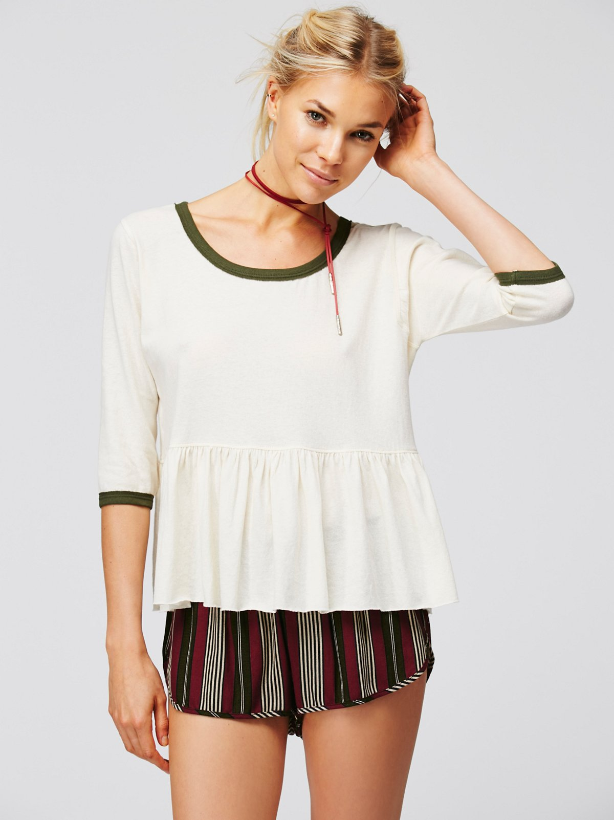 Ring It To Me Peplum Tee