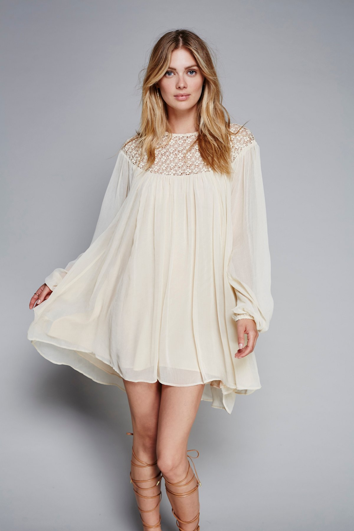 Macrame Lace Mini Dress
