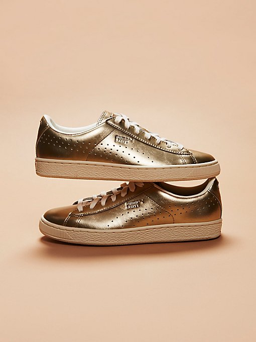 Product Image: Basket Classic Citi Metallic Court Trainer
