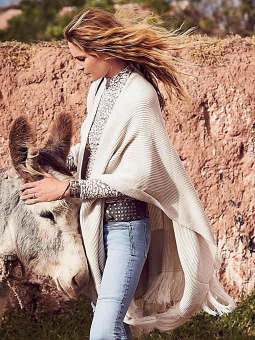 Product Image: Solstice Ribbed Fringe Kimono