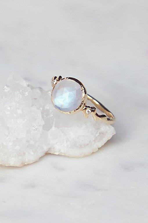 Product Image: 14k Moro Moonstone x Diamond Ring