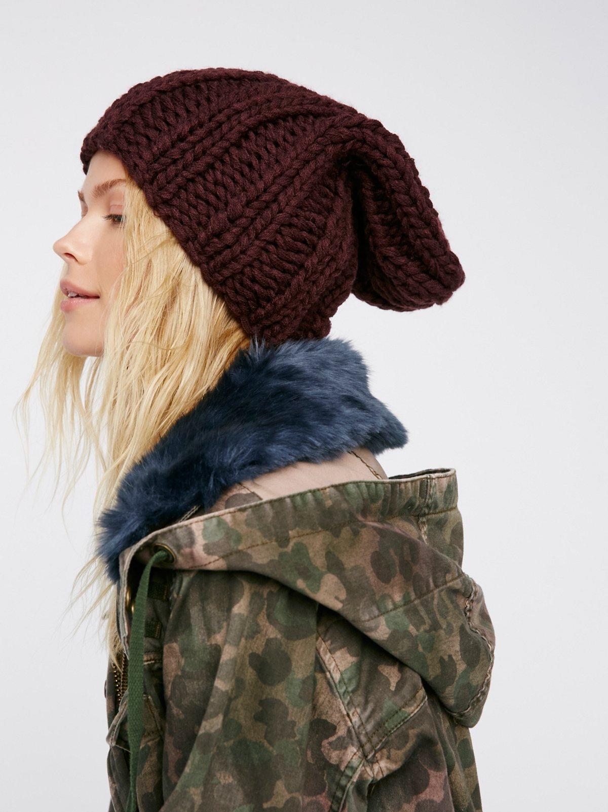 Back to Basics粗线针织帽