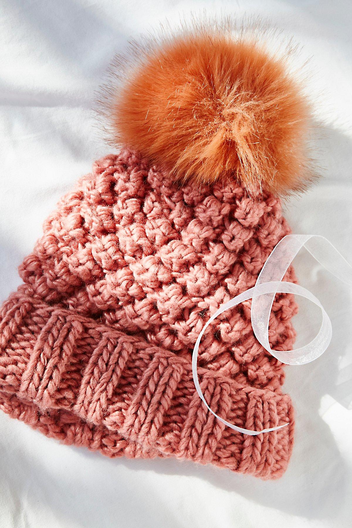 Mile High绒球针织帽