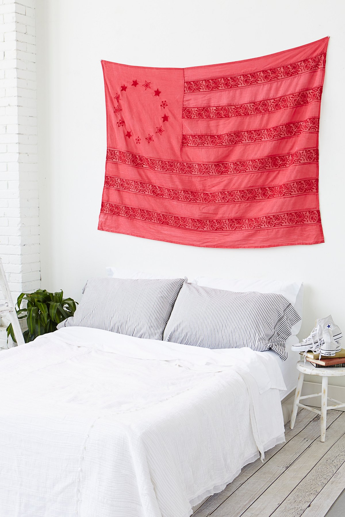 Embroidered Americana Wall Hanging