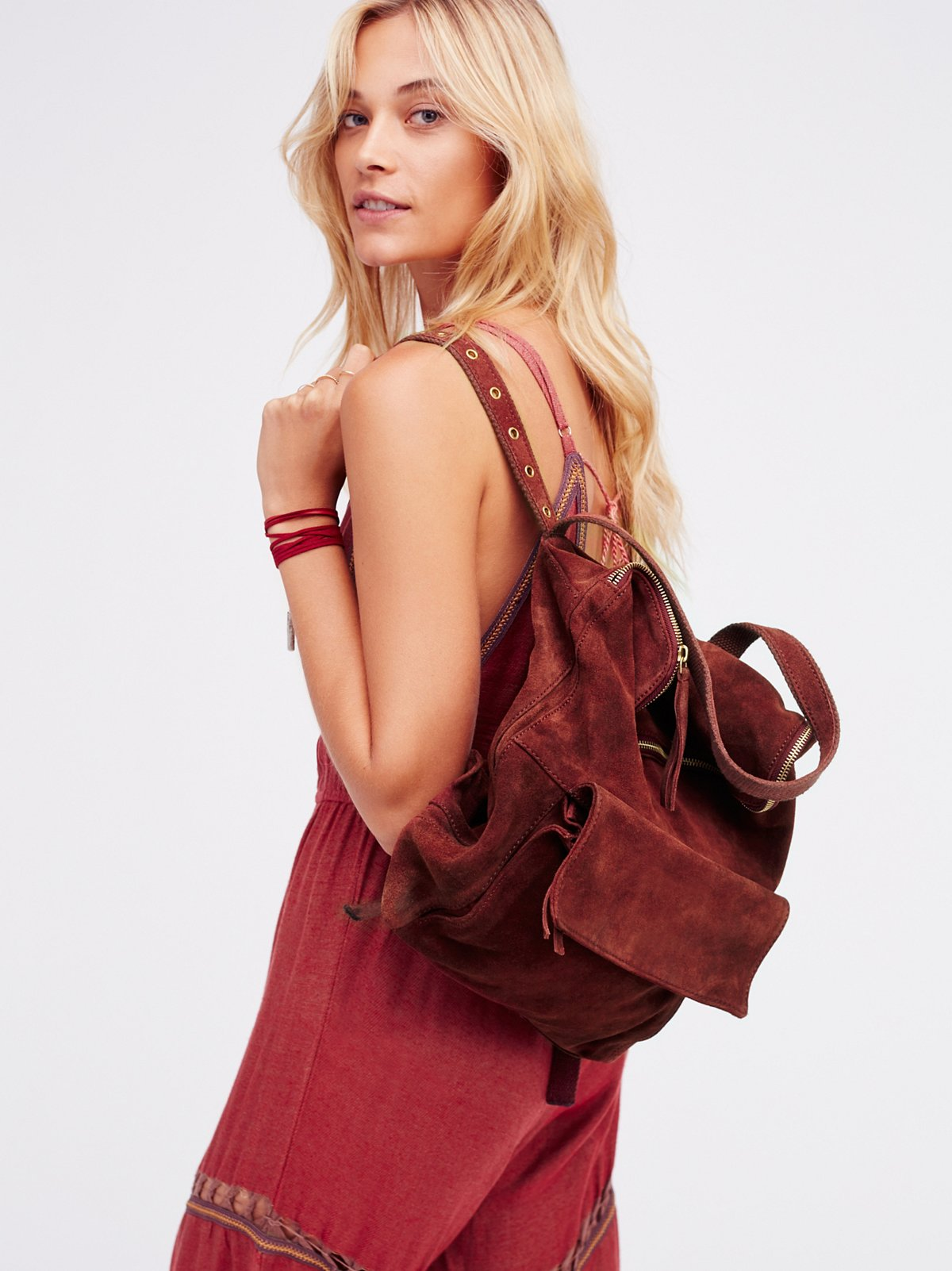 Rockaway Suede Backpack
