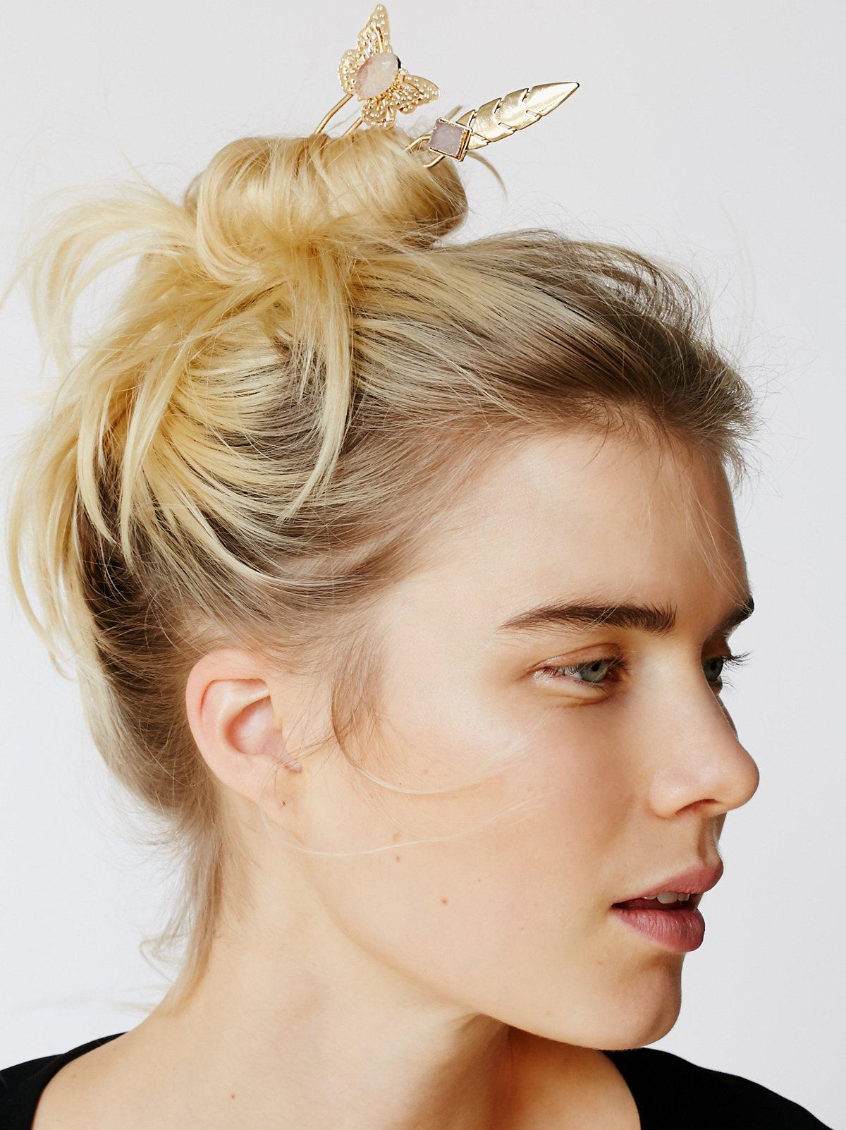 Druzy Hair Pick Duo