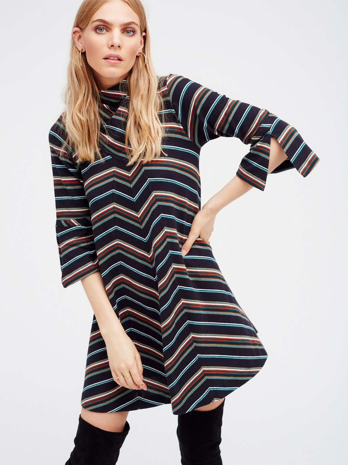 Adobe Stripe Mini Dress
