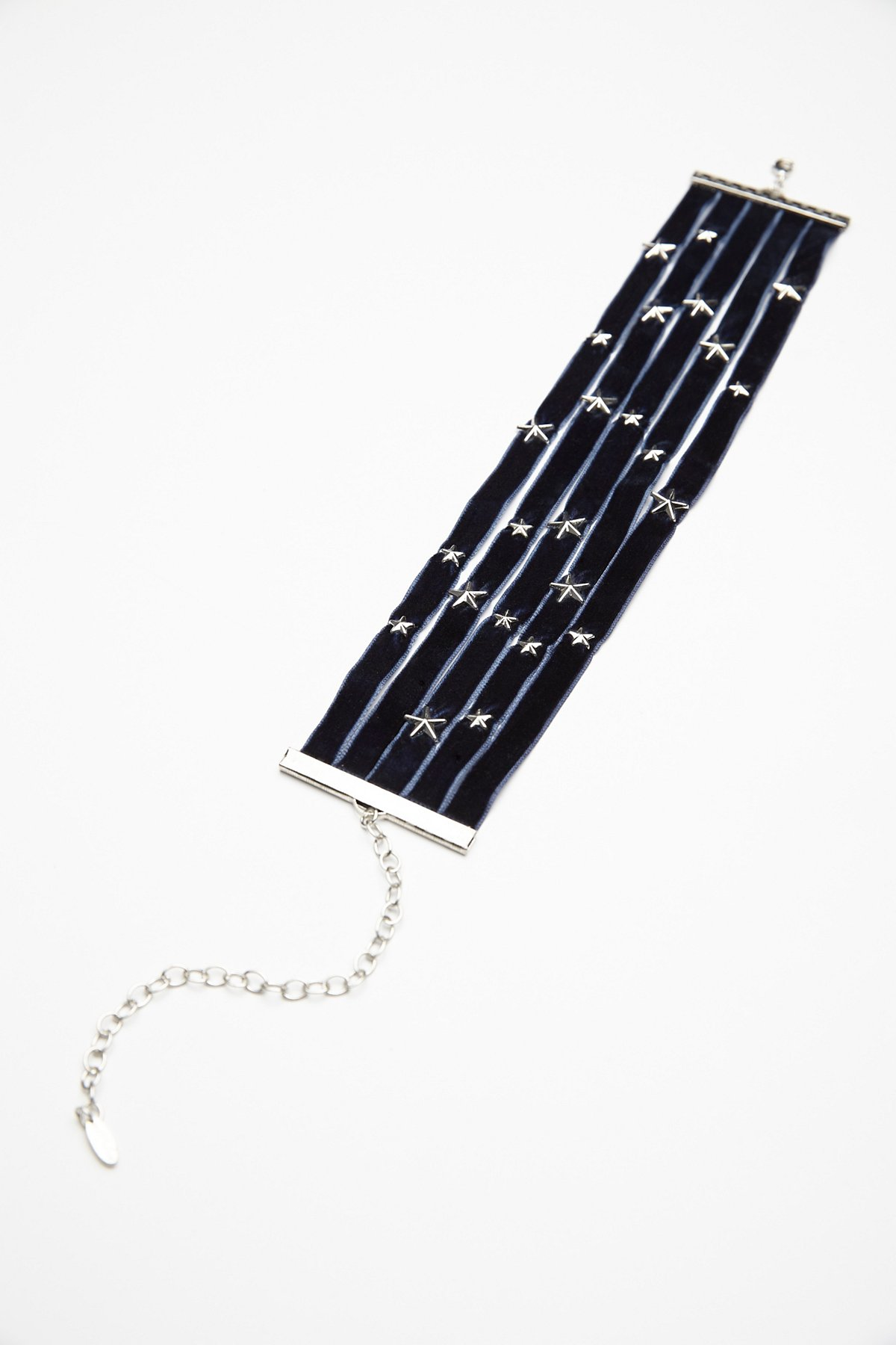 Stacked Star Velvet Choker