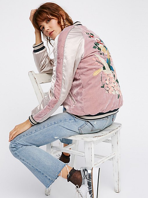 Product Image: Floral Embroidered Bomber