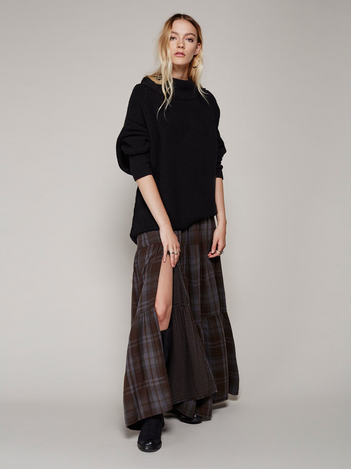Marlowe Plaid Maxi Skirt