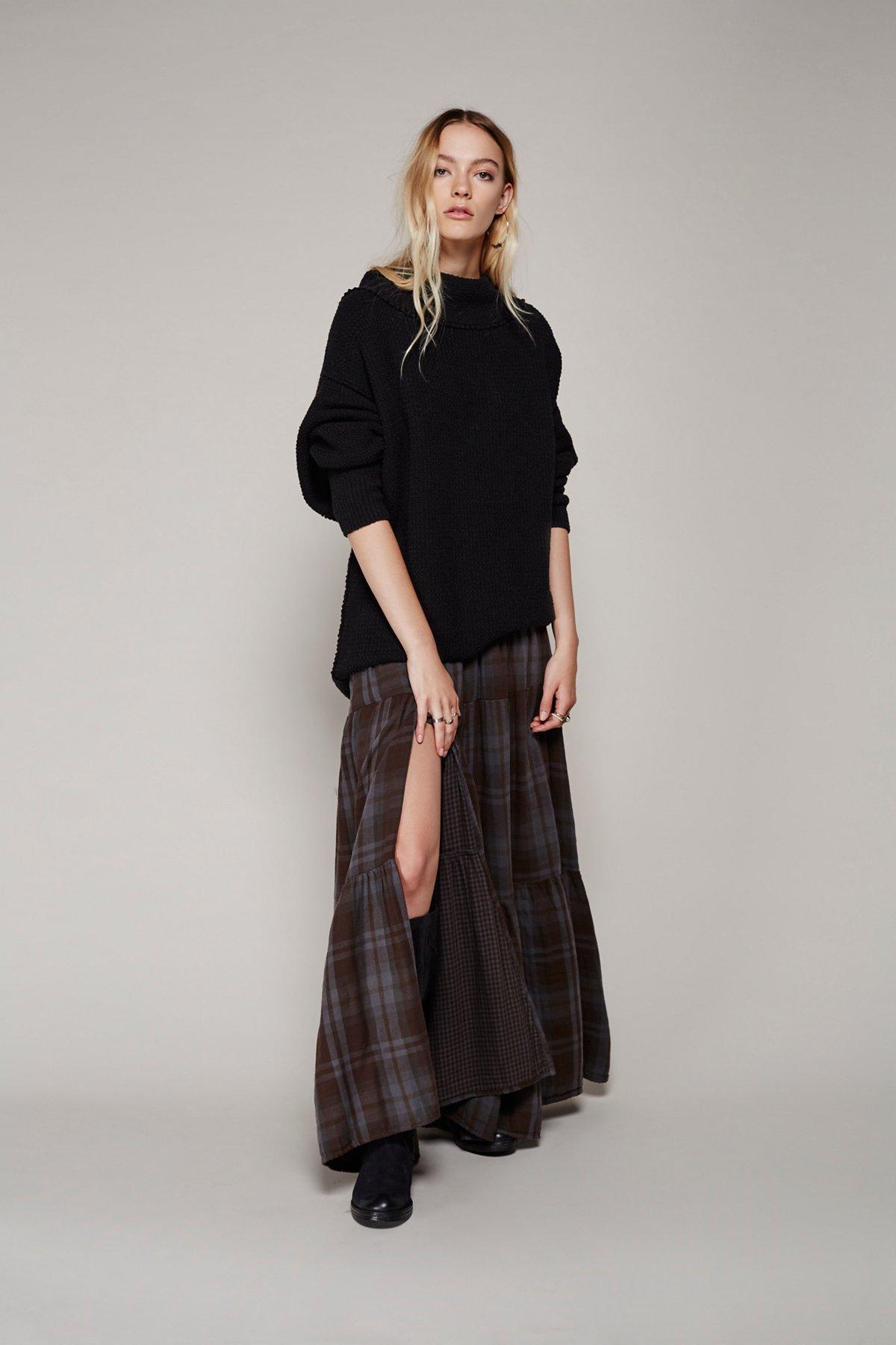 Marlowe Plaid Maxi Skirt