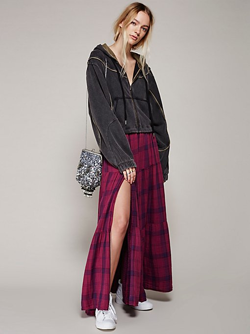 Product Image: Marlowe Plaid Maxi Skirt