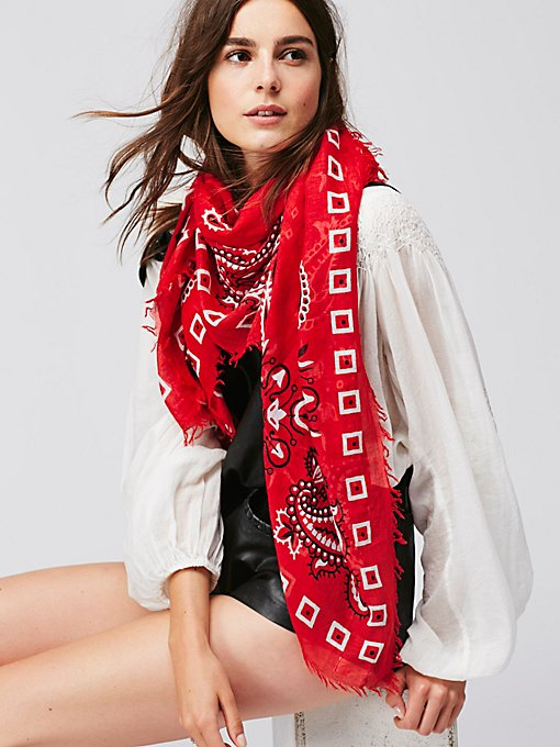 Product Image: Tried and True Bandana Print Scarf