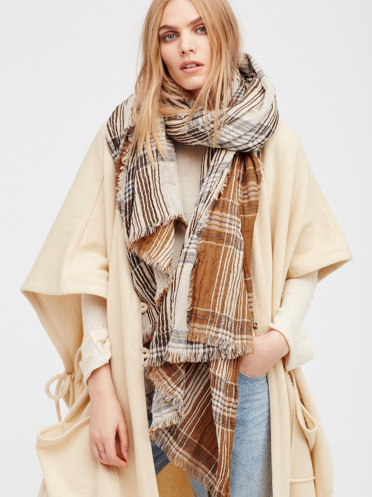 Winona Reversible Plaid Scarf