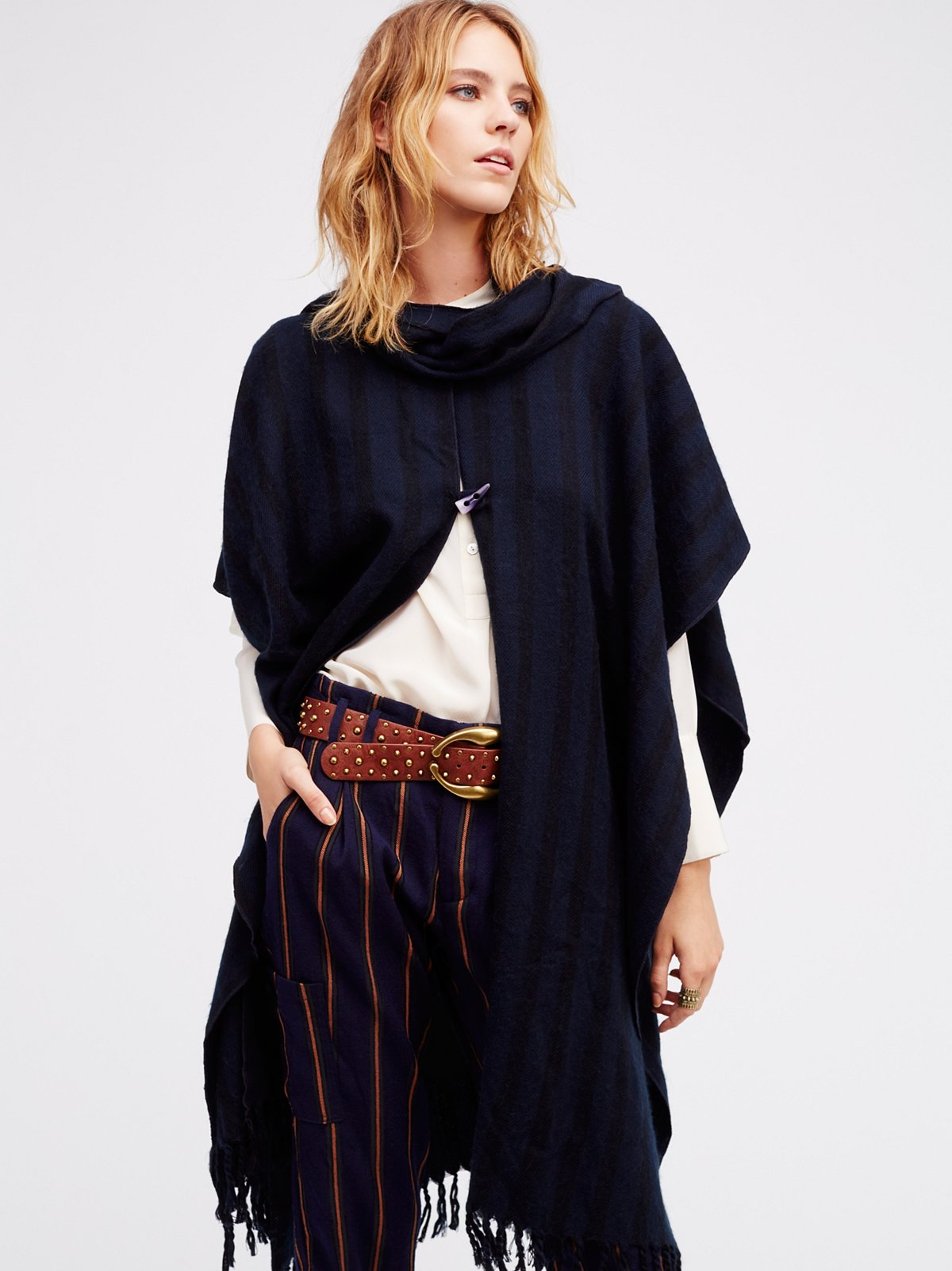 On the Run Stripe Cape