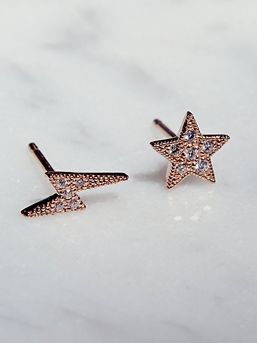 Product Image: Bolt x Star Pave Diamond Studs