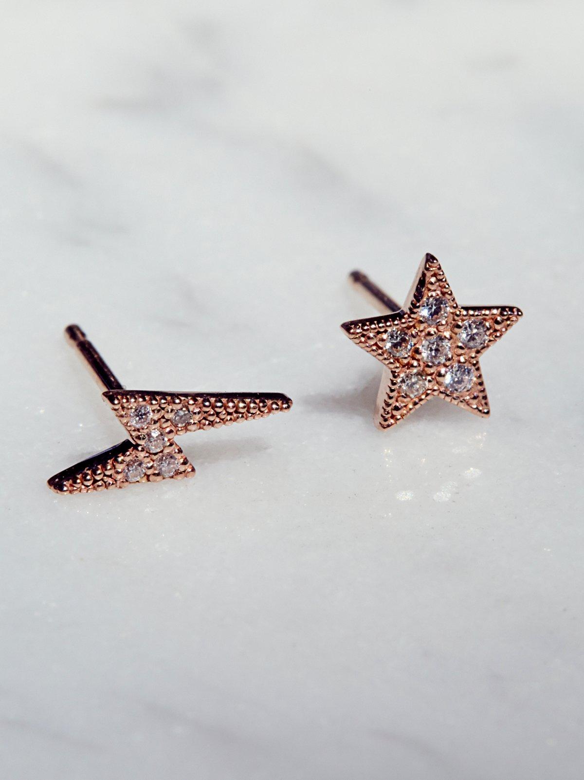 14k Celestial Pave Diamond Studs