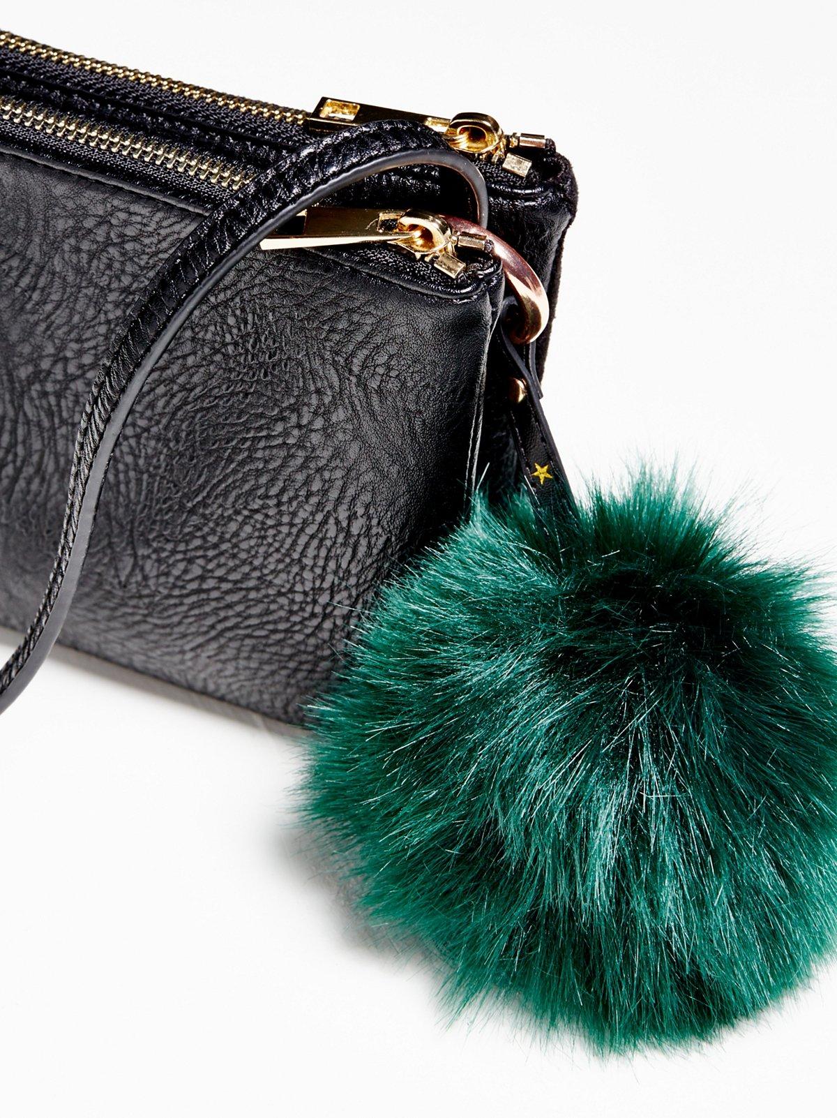Faux Fur Pompom Bag Charm